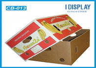 Corrugated Large Fruit Packaging Box / Cardboard Gift Boxes  With Customized Logo