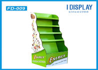 Green Biscuit Cardboard Pallet Display , Custom Free Standing Display Units