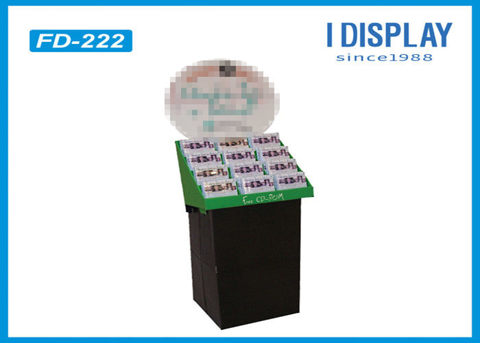 Twelve Cells Mask Cardboard Retail Cardboard Displays Stand Size Customized