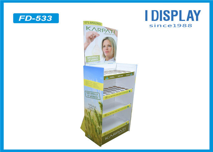Adjustable POP Cardboard Display , Corrugated Cosmetic Display Stand