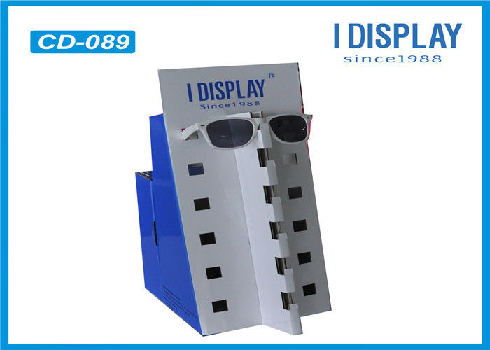 White Counter Display Units Cardboard  , Retail Displays For Sunglasses